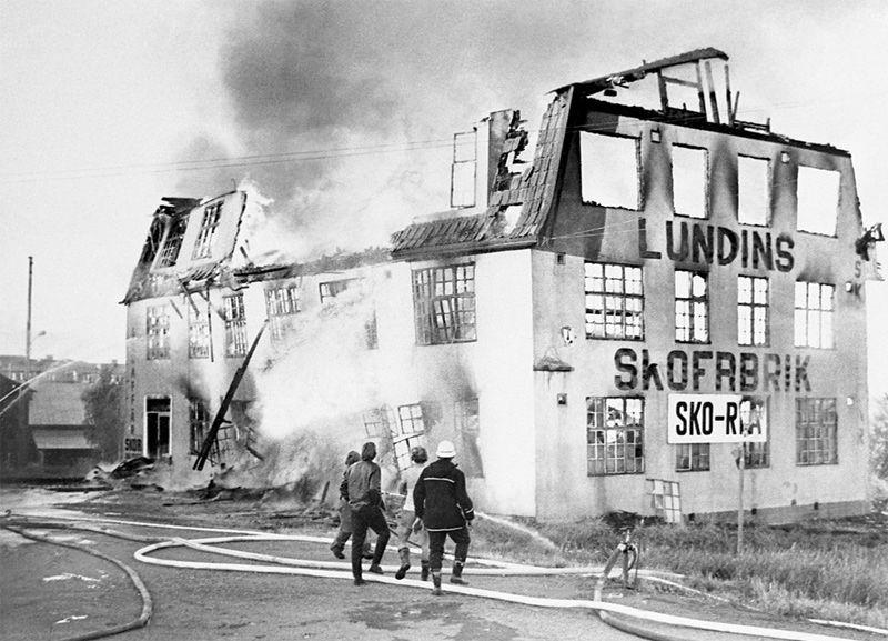 Brand i Skofabriken